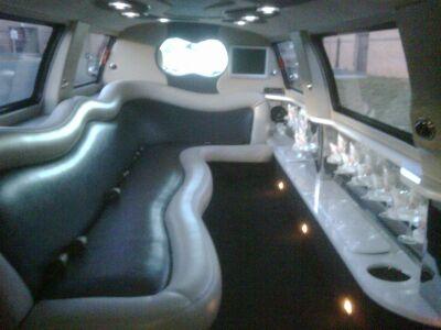 Black Stretch Lincoln Navigator Interior